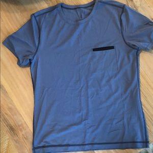 Men Blue Lululemon Shirt